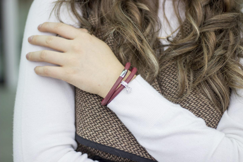 Red Leather ShanOre Origin Bracelet