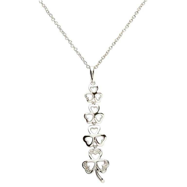 Shamrock Diamond Pendant