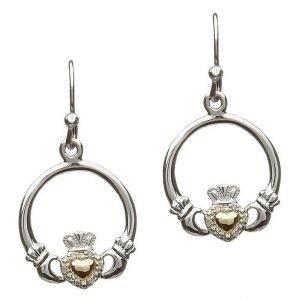 silver diamond clad ear