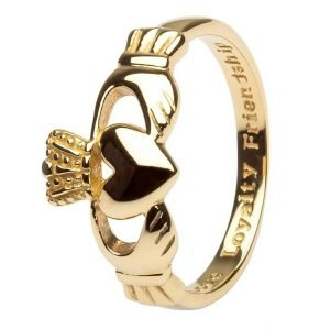10K Gents Gold Claddagh Love Loyalty Friendship 10G7