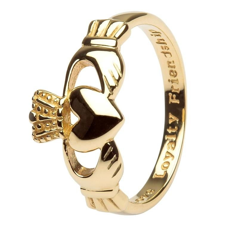 10K Gents Gold Claddagh Love Loyalty Friendship 10G7