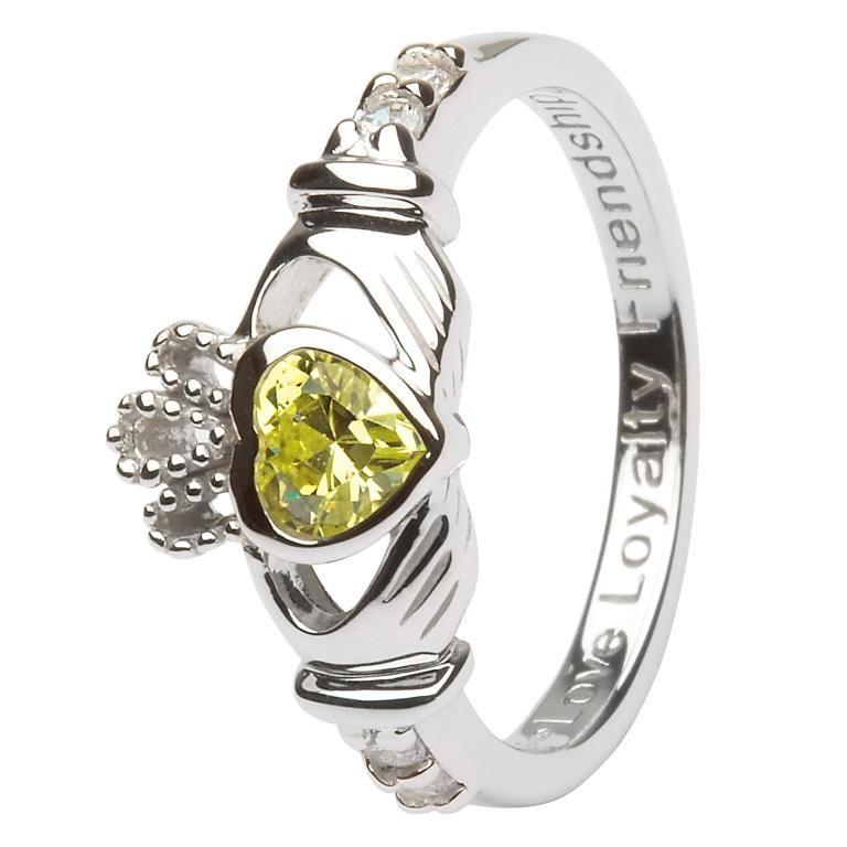 Claddagh Birthstone Ring August Sl90P