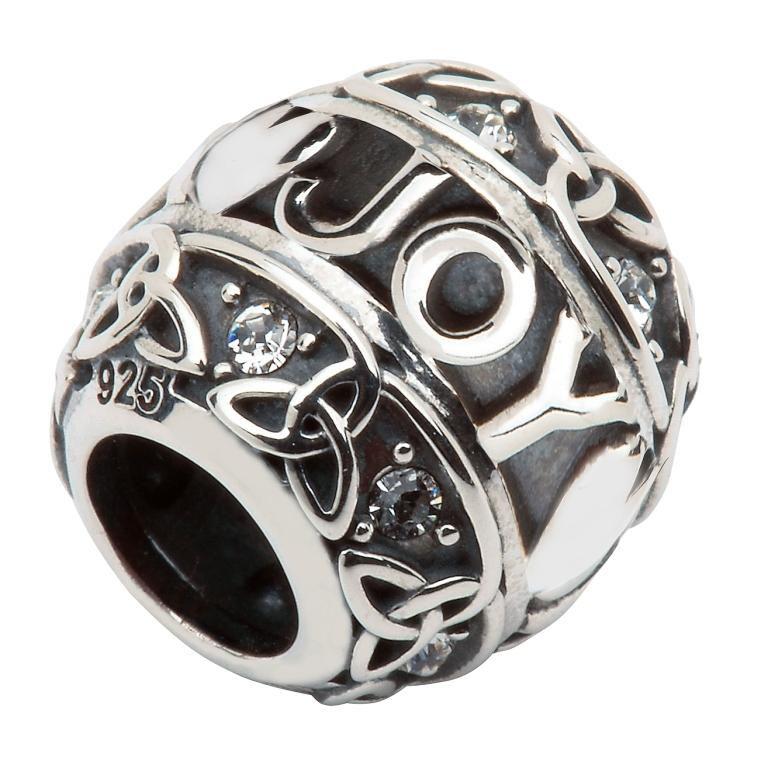 Silver Celtic Trinity Bead Td206