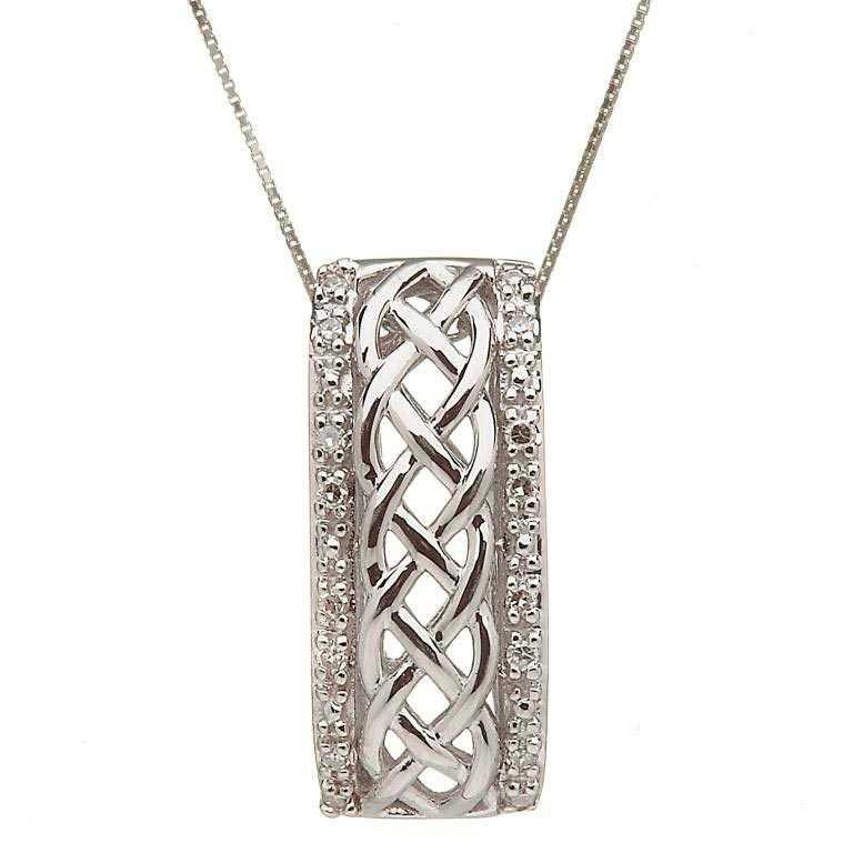 10 Karat Gold Celtic Knot Design Diamond Pendant 10P609Wd