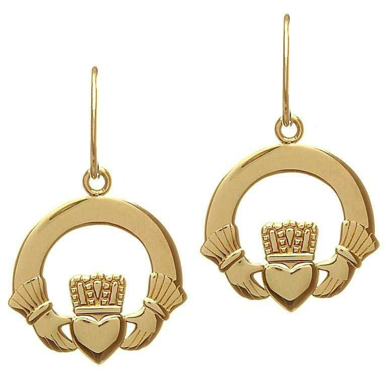 10 Karat Gold Claddagh Earrings 10E615