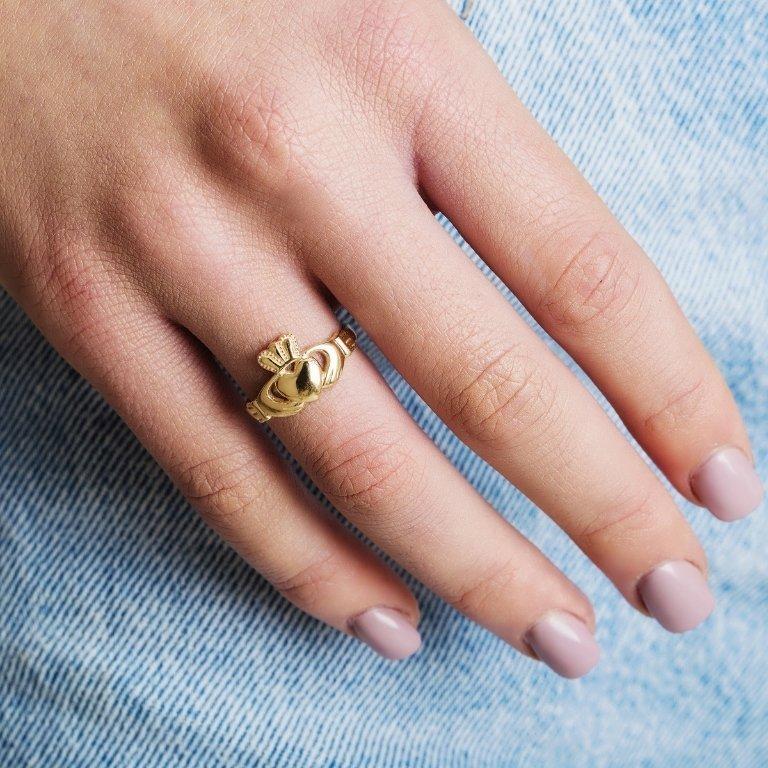 10K Ladies Gold Claddagh, Love, Loyalty, Friendship Ring