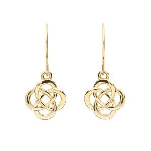 10K Gold Celtic Design Earrings 10E662