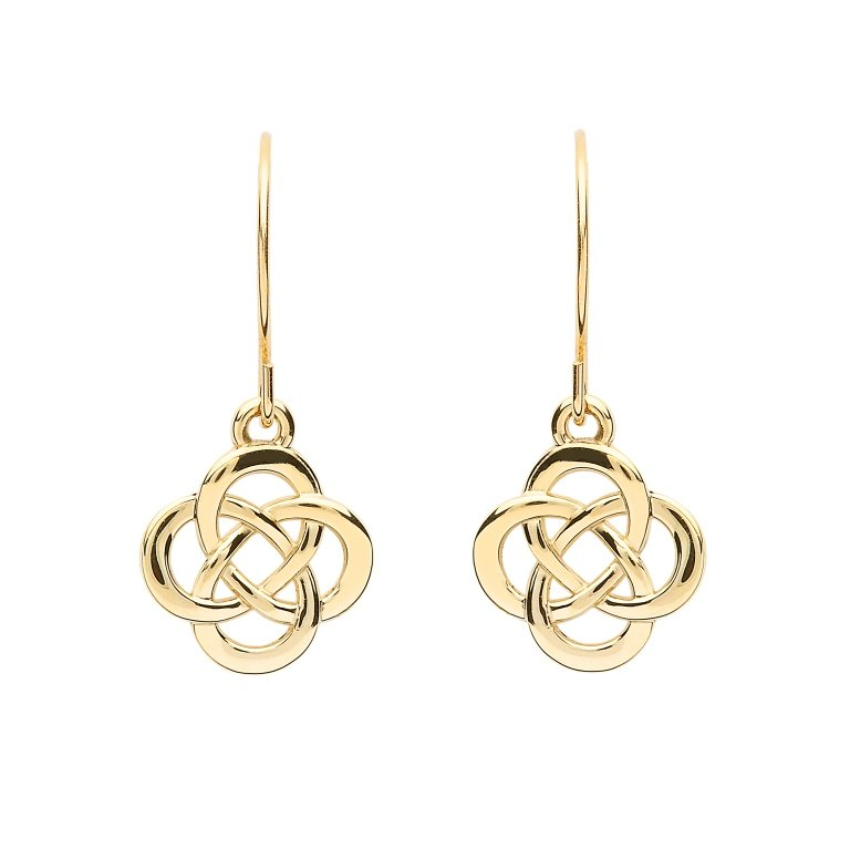 10K Gold Celtic Design Earrings 10E662