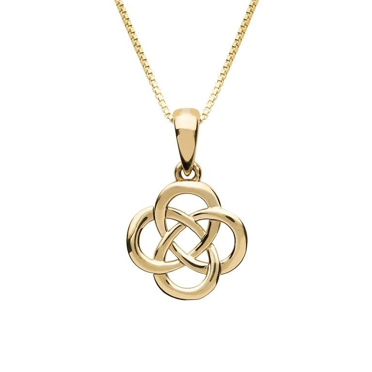 10K Gold Celtic Design Necklace 10P661