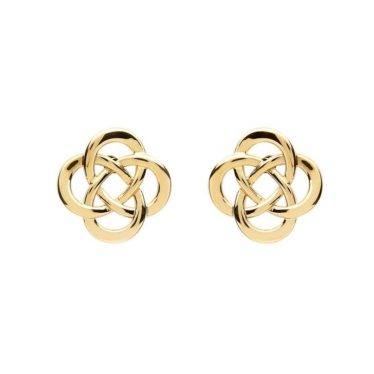 10K Gold Celtic Design Stud Earrings 10E663
