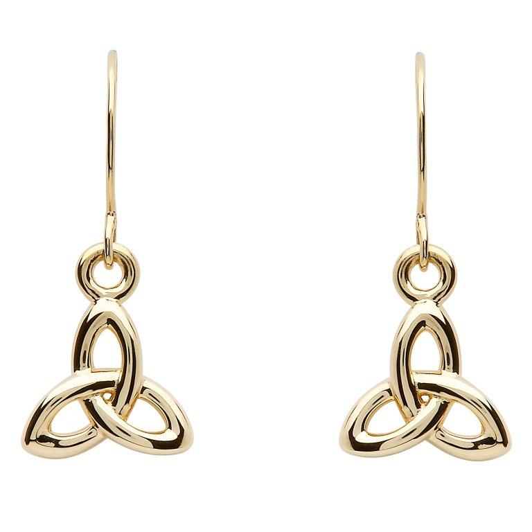 10K Gold Trinity Knot Earrings 10E644
