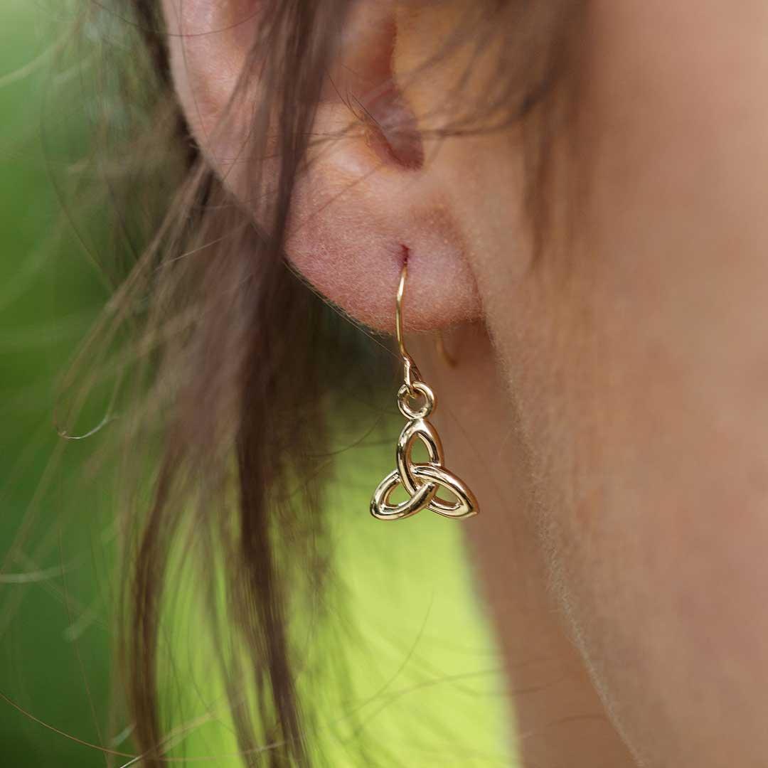 10K Gold Trinity Knot Earrings 10E644_2