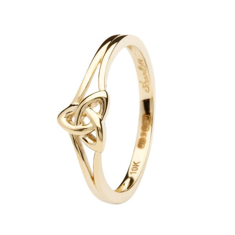 10K Gold Trinity Knot Ring 10L84