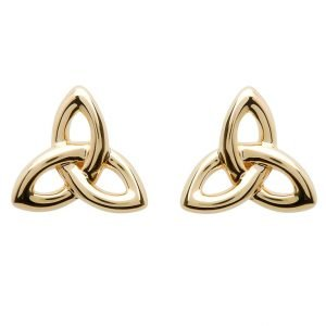 10K Gold Trinity Knot Stud Earrings 10E643