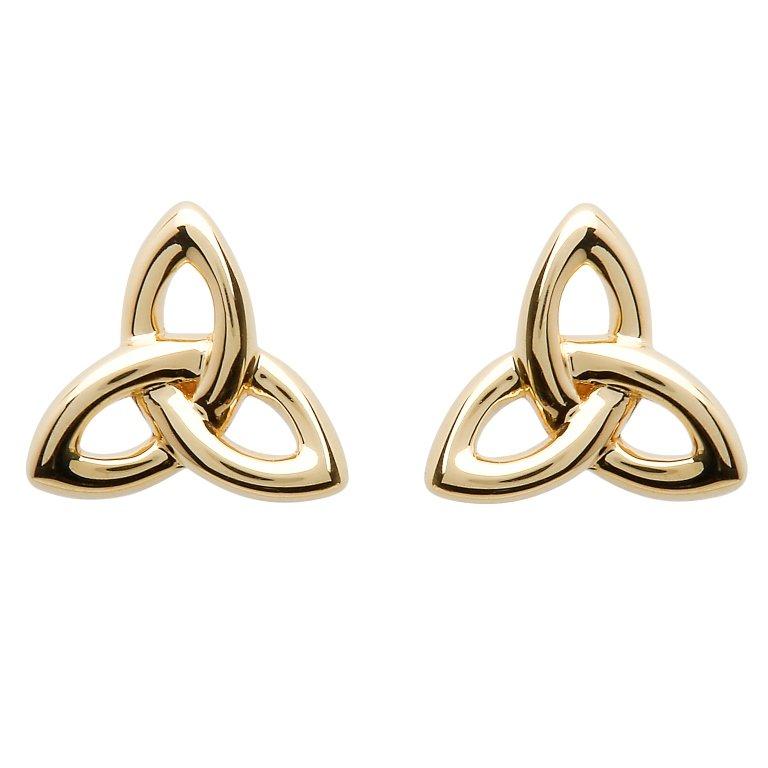 10K Gold Trinity Knot Stud Earrings 10E643