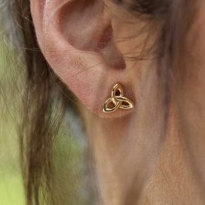 10K Gold Trinity Knot Stud Earrings 10E643_2