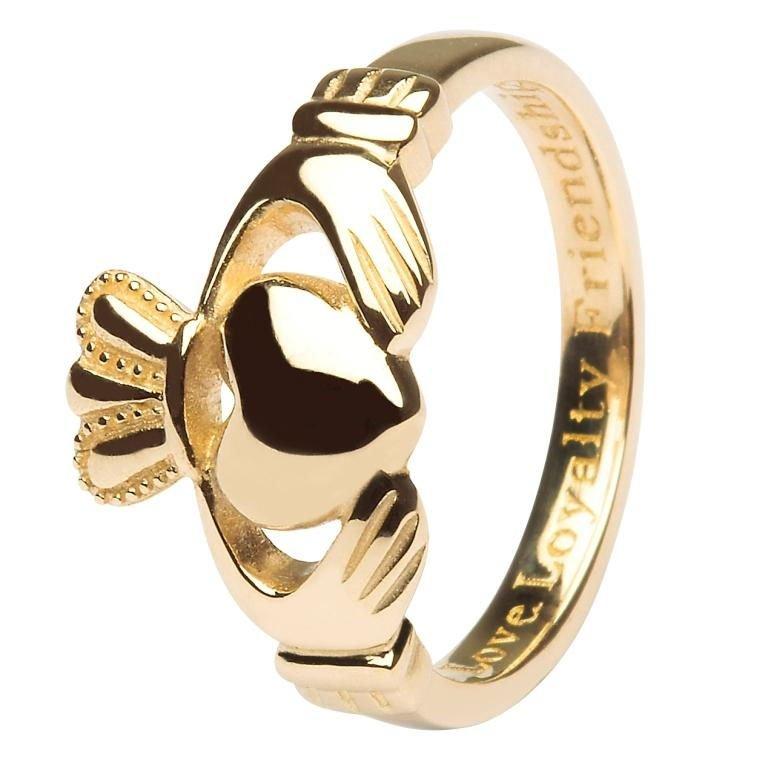 10K Ladies Gold Claddagh Love Loyalty Friendship 10L92