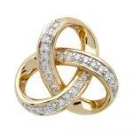 14K-Gold-Diamond-Set-Trinity-Pendant - Gallery Thumbnail Image