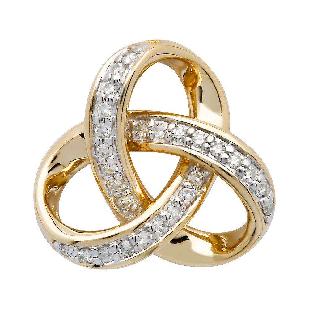 14K-Gold-Diamond-Set-Trinity-Pendant