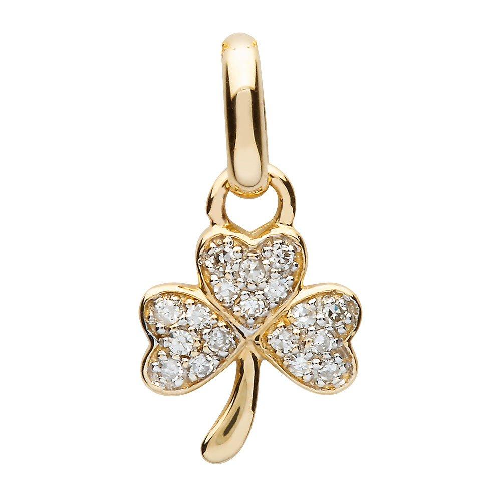 14K-Yellow-Gold-Small-Shamrock-Pendant-with-Pave-Set-Diamonds