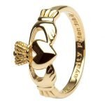 14K Gents Gold Claddagh Love Loyalty Friendship 14G7 - Gallery Thumbnail Image