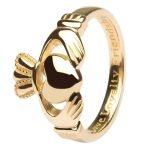 14K Ladies Gold Claddagh Love Loyalty Friendship 14L92 - Gallery Thumbnail Image