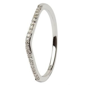 14K White Gold Pave Set Diamond Matching Wedding Ring For Jp21W Jp22W