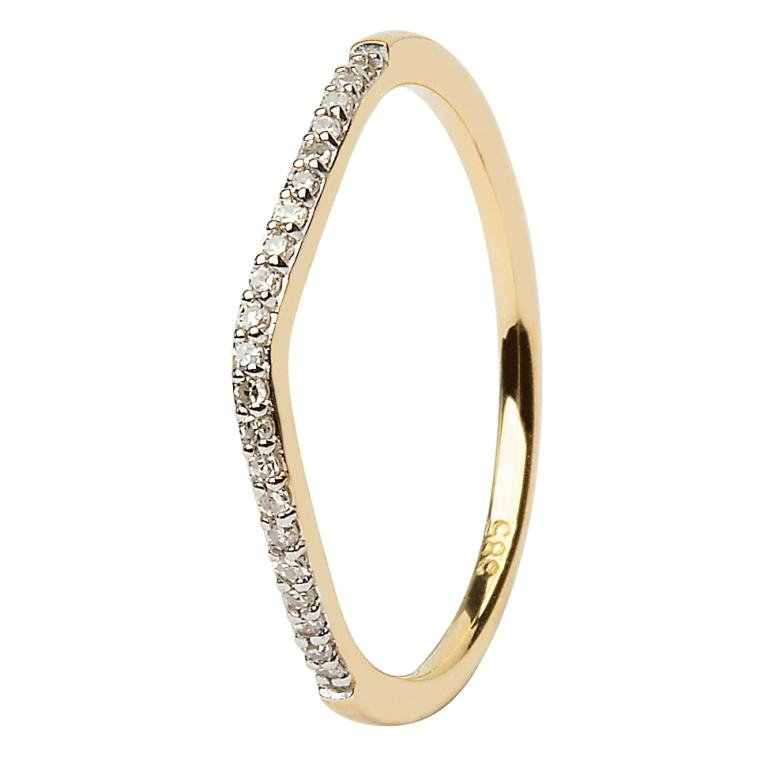 14K Yellow Gold Pave Set Matching Wedding Ring For Jp21 Jp22