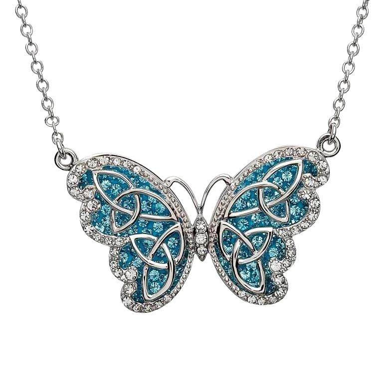 Butterfly Necklace Embellished With Crystals
