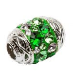 Celtic Bead Embellished With Crystals - Gallery Thumbnail Image