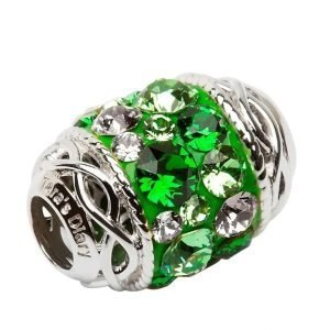 Celtic Bead Embellished With Crystals