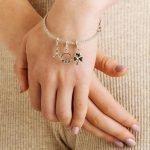 Celtic Diamond Set Shamrock Dangle Bead - Gallery Thumbnail Image