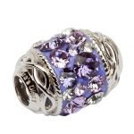 Celtic Knot Bead Embellished With Crystals - Gallery Thumbnail Image