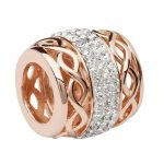 Celtic Rose Gold Plated Bead Encrusted With Crystal - Gallery Thumbnail Image