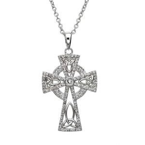 Celtic Trinity Cross Embellished With Crystals