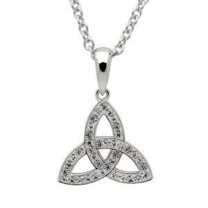 Celtic Trinity Knot Necklace Embellished With Crystals - small