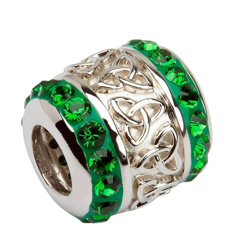 Celtic Trinty Knot Bead Encrusted With Crystals