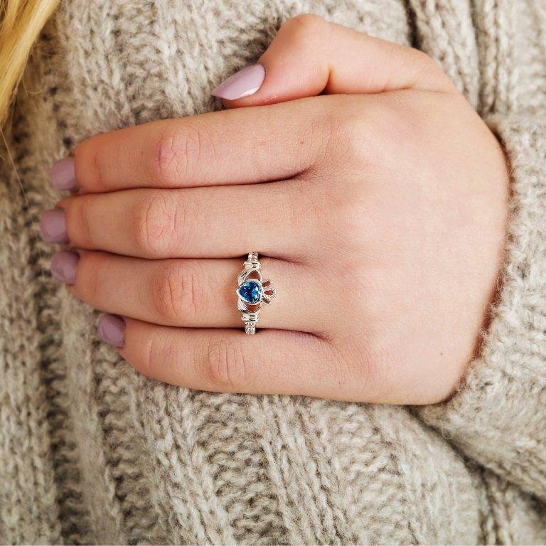 Claddagh Birthstone Ring December