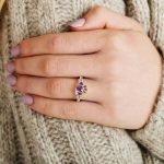 Claddagh Birthstone Ring June: Alexandrite - Gallery Thumbnail Image