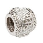 Double Trinity Knot Bead Encrusted With Crystal - Gallery Thumbnail Image