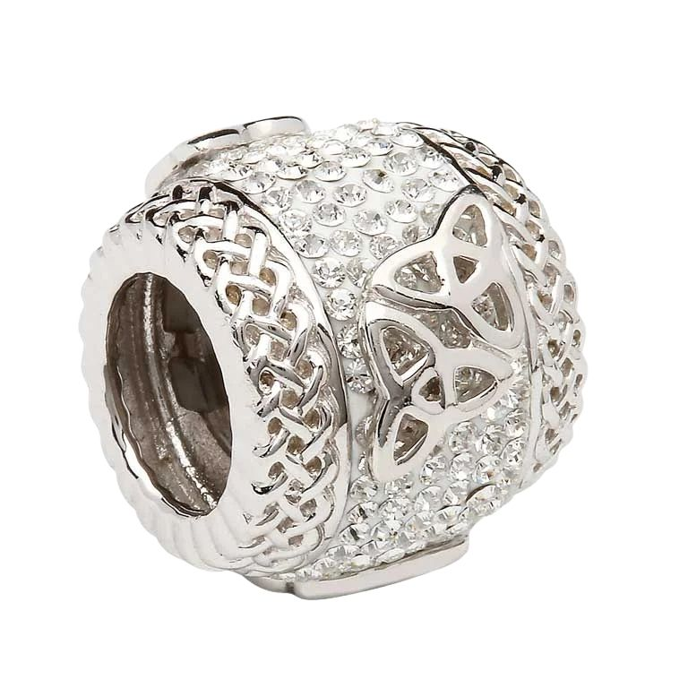 Double Trinity Knot Bead Encrusted With Crystal