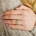Gold 14K Claddagh August Birthstone Ring - Gallery Thumbnail Image