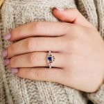 Gold 14K Claddagh September Birthstone Ring - Gallery Thumbnail Image