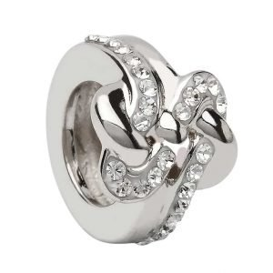Infinity Bead Encrusted With Crystal