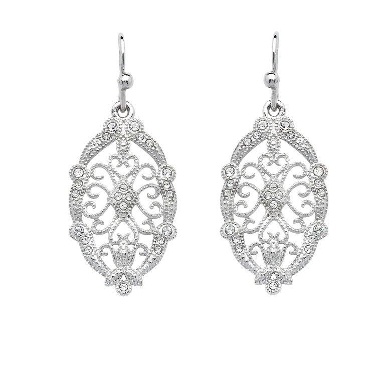 Irish Lace Sterling Silver Drop Earrings