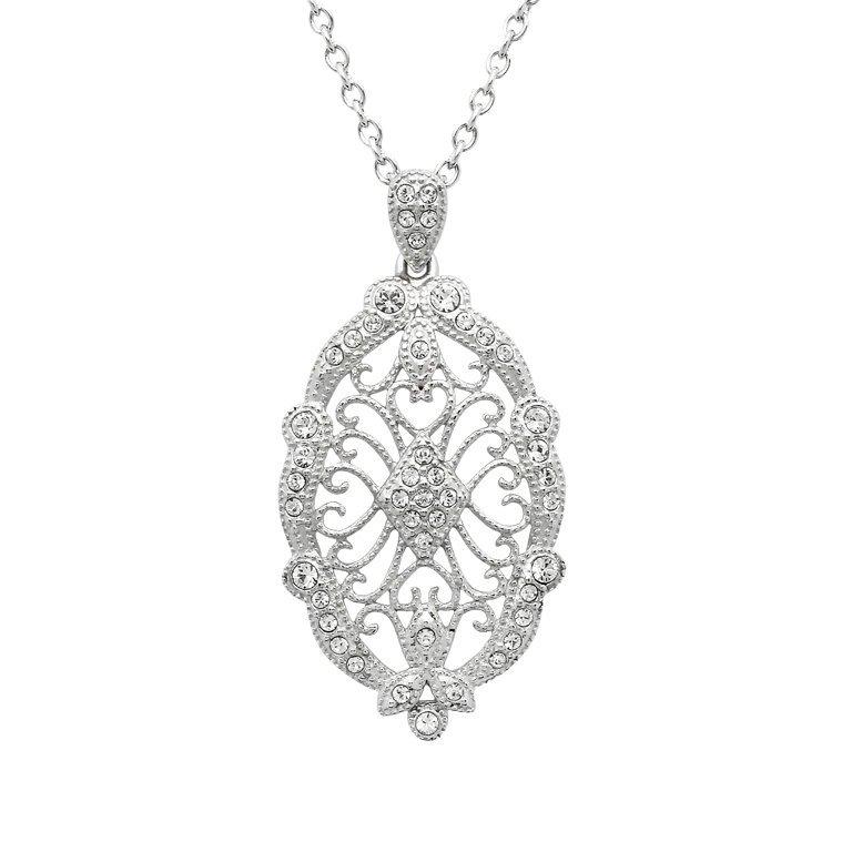 Irish Lace Sterling Silver Stone Set Pendant