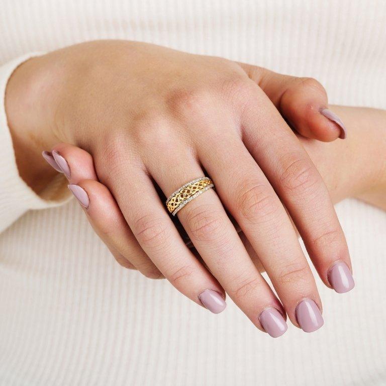 Ladies Celtic Knot Diamond Ring