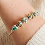 Shamrock Bead Encrusted With Crystals - Gallery Thumbnail Image