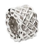 Silver Celtic Intricate Knot Bead - Gallery Thumbnail Image