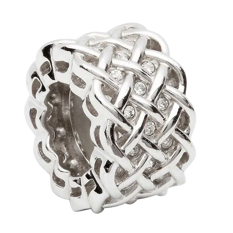 Silver Celtic Intricate Knot Bead